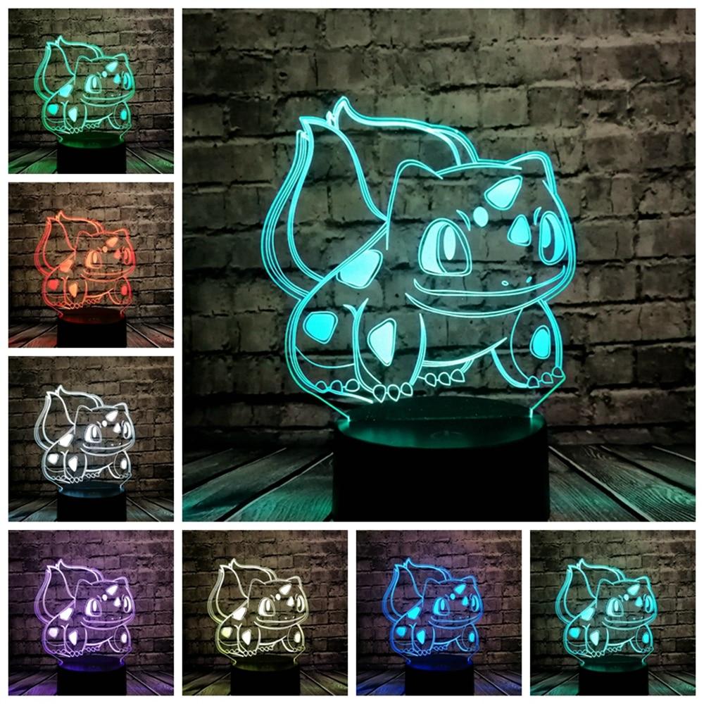 Tier Frosch Samen 3D Cartoon USB Lampe Pokeball Bulbasaur Pokemon Go - Nachtlichter - Foto 4