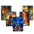 For ipad 6 Oil Painting Cover for ipad Air2 Tablets Accessories Luxury Hard Back Case with Screen Protection