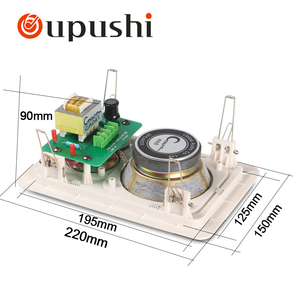 Embedded speaker ceiling speaker 2 way ceiling loudspeaker 100 volt in ceiling speaker system CA041