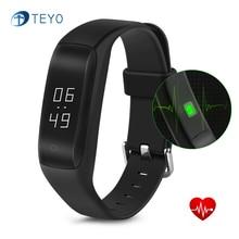 Teyo Новый Смарт-Браслет C5 Heart Rate Monitor Bluetooth 4.0 Водонепроницаемый Pulsera Inteligente Шагомер Браслет для Android IOS