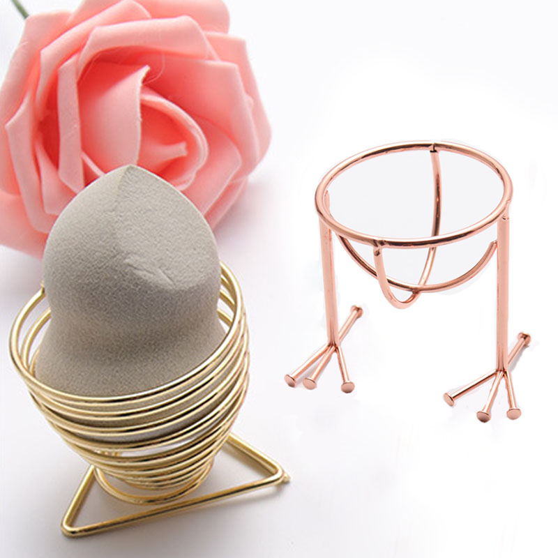 Powder Puff Sponge Display Makeup Beauty Egg Stand Alloy Drying Holder Rack Cosmetic Puff Holder