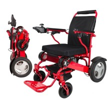 Aluminum alloy folding lightweight power electric wheelchair for disabled people