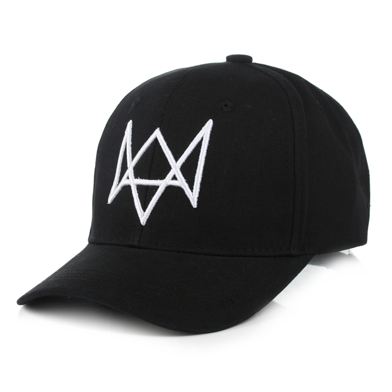 new fashion Watch Dogs   Baseball     Cap   Embroidery Of Aiden Pearce Hat Snapback Adjustable Mens Gorras Snapback hats