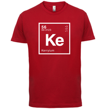 KERRY Periodic Element - Mens T-Shirt Geeky / Chemistry 13 Colours Print T Shirt Short Sleeve Hot Tops Tshirt Homme