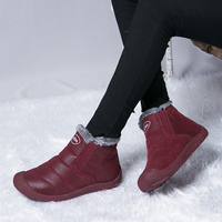 Brand Winter Women Boots Slip On Waterproof Women Snow Boots Fur Inside Antiskid Bottom Keep Warm