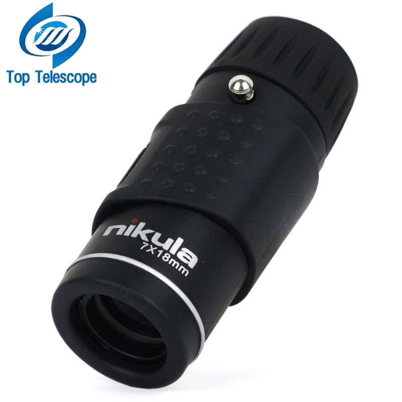 Nikula Telescópio Monocular 7X18 Optics Totalmente Revestida com qualidade hd mini Esportes Caça Concert Spotting Scope monocular de visão noturna