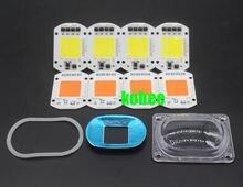 LED COB Grow Chip White Chip+Lens Reflector 50W 30W 20W 110V/220V For LED Flood Light DIY Outdoor light