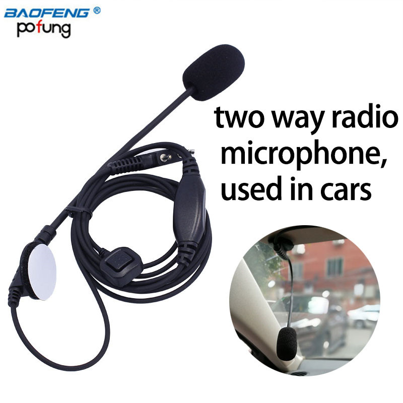 Mini Wired Car Microphone External Mic PTT Portable Mic for Kenwood TYT Baofeng Two-way radio in the car Truck Motorcycle use