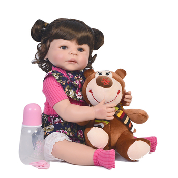 55cm Full Silicone Body Reborn Baby Doll Toy For Girl Vinyl Newborn Princess Babies Alive Bebes doll Boneca child Birthday Gif
