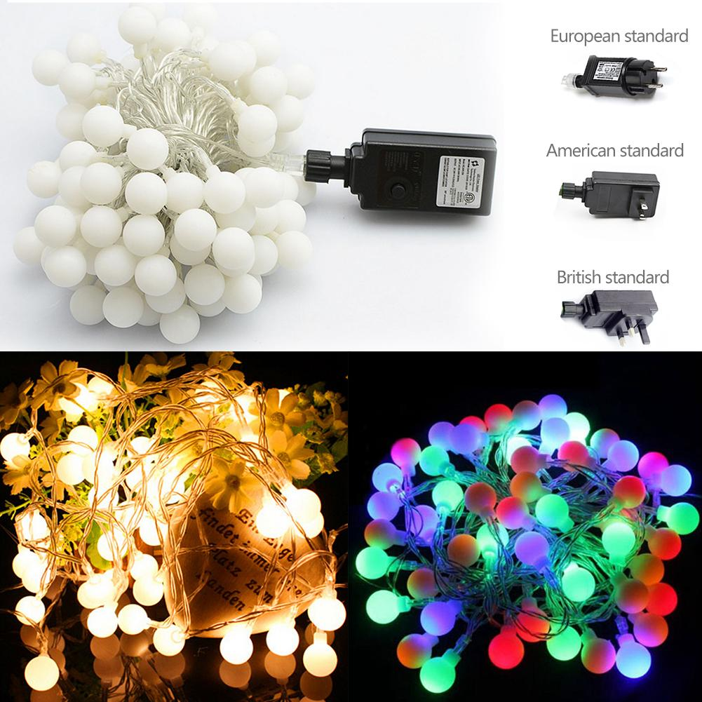 100LEDs Globe Ball LED String Lights Christmas Lights for Patio Garden Party Xmas Tree Wedding Decoration US/ EU/ UK Plug