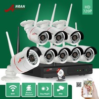 ANRAN Surveillance P2P 8CH WIFI NVR 720P Outdoor Waterproof 24 IR Network CCTV IP Wireless Camera