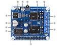 Waveshare raspberry pi rpi placa de expansão placa de excitador do motor dc driver de motor de passo do motor suporta raspberry pi a +/+ b/2b/3b