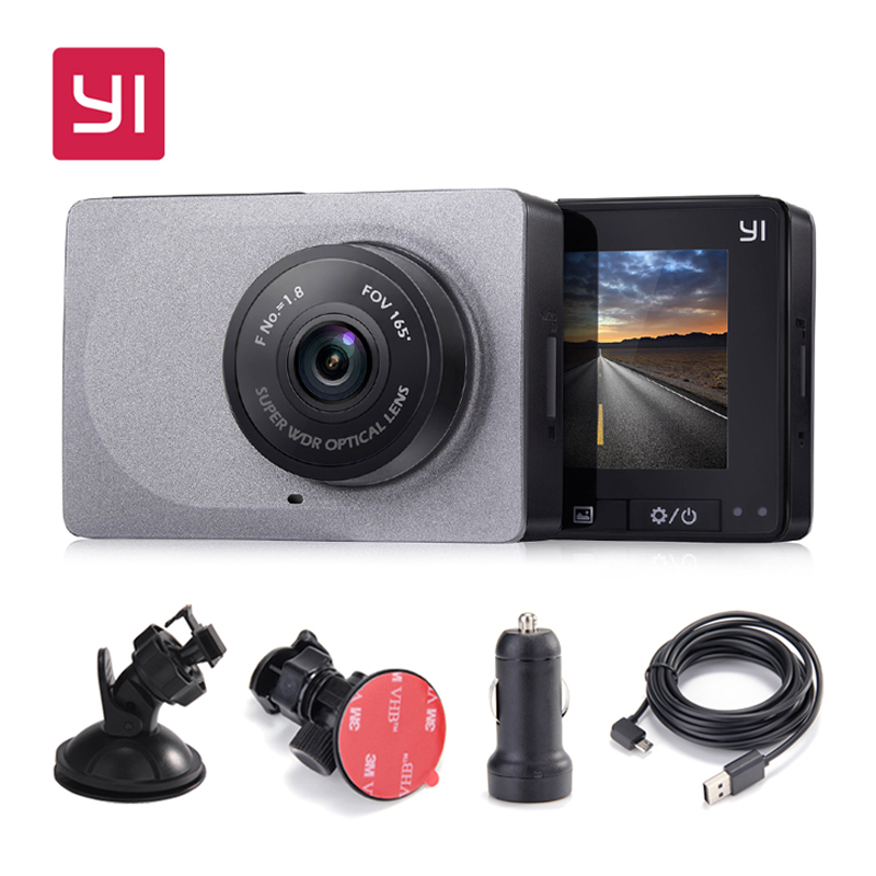 [International Edition] Xiaomi YI Smart Car DVR 165 Gradi 1080 p 60fps Rilevatore di Auto 2.7