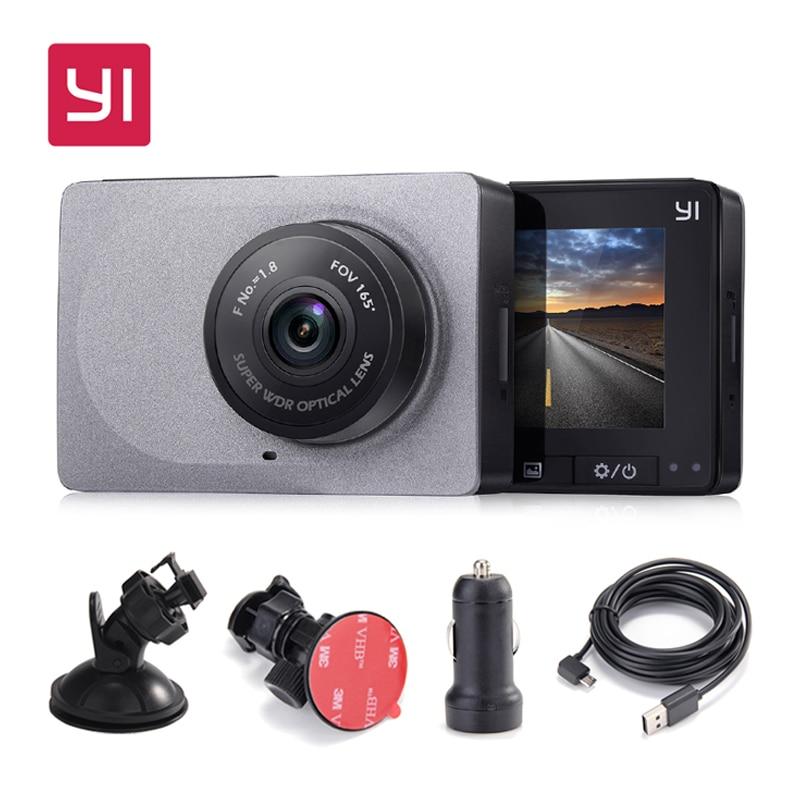 """[Международное издание] Xiaomi YI Smart Видеорегистраторы для автомобилей 165 градусов 1080 P 60fps детектор автомобиль 2,7 """"тире Камера ADAS безопасный напоминание Dashcam"""