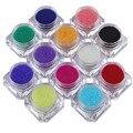 12 Unids/set Claro Colorido Perlas de Caviar 3D Del Grano de Cristal Rhinestone DIY Manicura Nail Art Decoration 12 Colores Accesorios