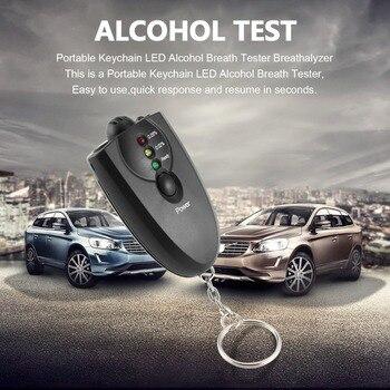 цена на hot new Styling Portable Keychain Design LED Alcohol Breath Tester Breathalyzer Alcohol Analyzer Diagnostic Tool Hot