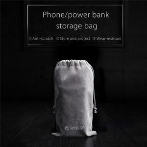 Image 2 - ORICO المخملية 180x100 مللي متر الهاتف المحمول HDD حقيبة لتخزين شاحن يو اس بي USB جهاز شحن (باور بنك) بالكابل الهاتف صندوق تخزين حالة رمادي اللون