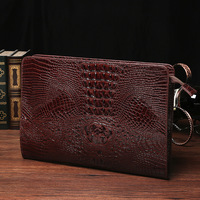 ETONWEAG New 2017 Women Famous Brands Crocodile Leather Brown Zipper Organizer Wallets Alligator Luxury Fashion Day