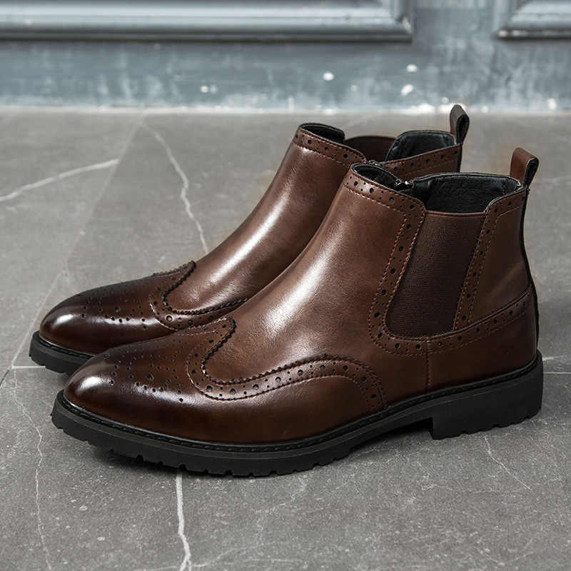 2019 Leather Boots Men Suede Leather