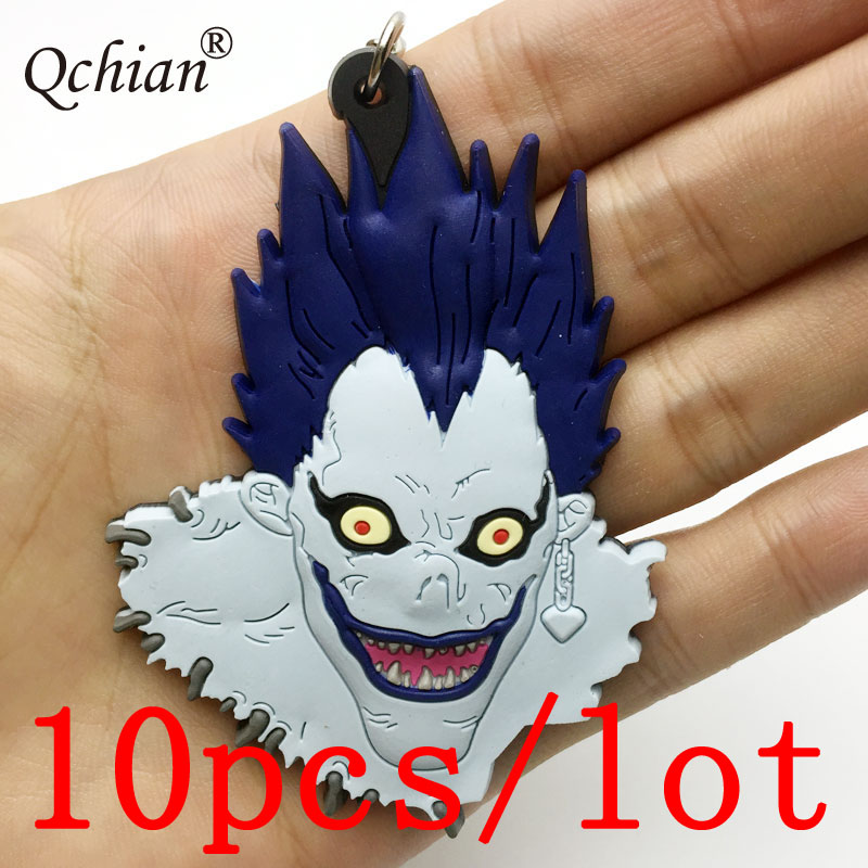 Key Chains Alert 10pcs/lot Death Notes Grim Reaper L.lawliet Silicone Decorative Pendant Very Personalized Backpack Ornament Gift Keychain To Prevent And Cure Diseases Jewelry Sets & More