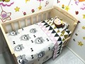 Promotion! 3PCS baby nursery bedding sets Sheet ,include(Duvet Cover/Sheet/Pillow Cover)