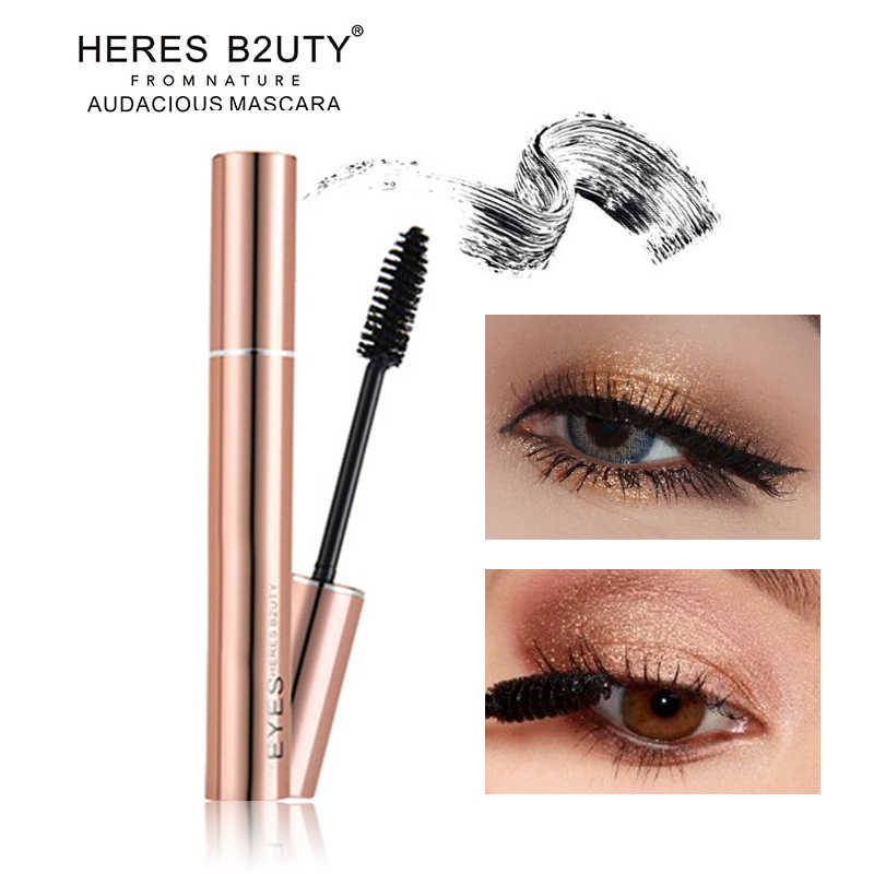 d882e084633 Detail Feedback Questions about Brand HERES B2UTY 3D Fiber Long Lash  Waterproof Lengthening Thick Cosmetics Black Mascara High Quality on  Aliexpress.com ...