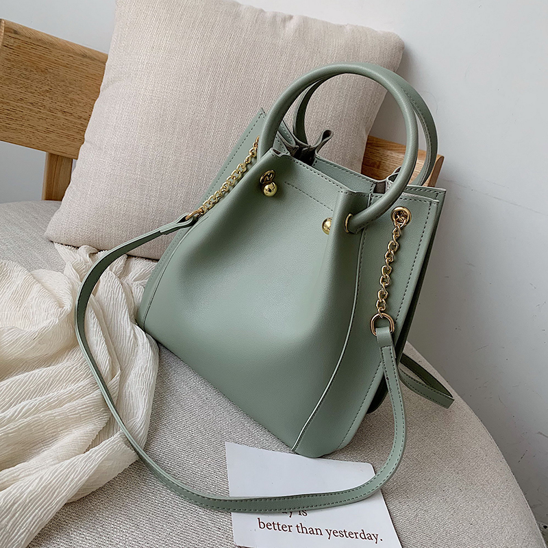 Simple PU Leather Handbags With Round Handle For Women 2019 New Summer  Crossbody Bags Female Travel Messenger Shoulder Bag