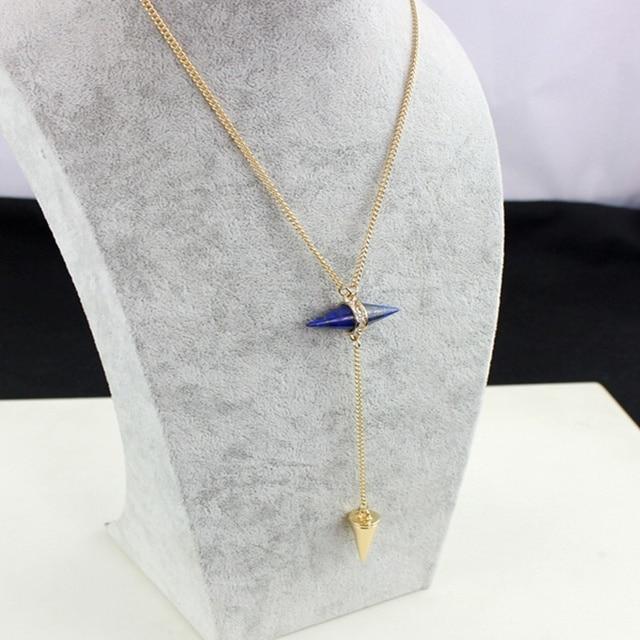 Купить ожерелье chicvie для женщин длинные конические ожерелья и подвески картинки