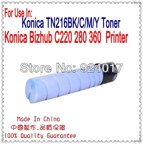 For Konica Minolta bizhub C220 C280 C360 Refill Color Toner Cartridge,For Konica TN-216K TN-216C TN-216M TN-216Y Toner CartridgeFor Konica Minolta bizhub C220 C280 C360 Refill Color Toner Cartridge,For Konica TN-216K TN-216C TN-216M TN-216Y Toner Cartridge