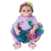 лучшая цена Bebes Reborn Doll Soft Silicone Reborn Toddler Baby Dolls Silicone Surprice Gifts High Quality Lol Doll