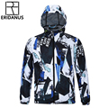Men Quick-drying Jacket 2016 Autumn New Casual Hooded Male Thin Breathable Coats Fashion 3D Printing Waterproof Jackets M379