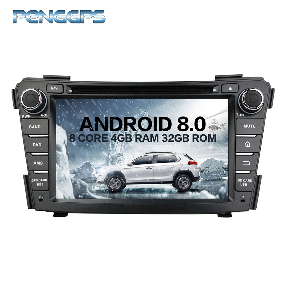 2 Din Octa Core Stereo Android 8.0 Car Radio for HYUNDAI I40 2011 2015 GPS Navigation CD DVD Player Headunit Free Map card IPS