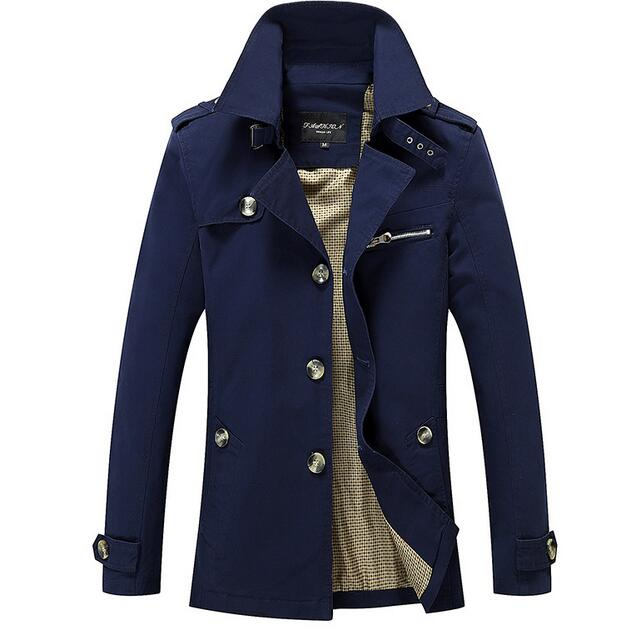 2017 Men Jacket Coat Long Section Fashion Trench Coat Jaqueta Masculina Veste Homme Brand 5XL