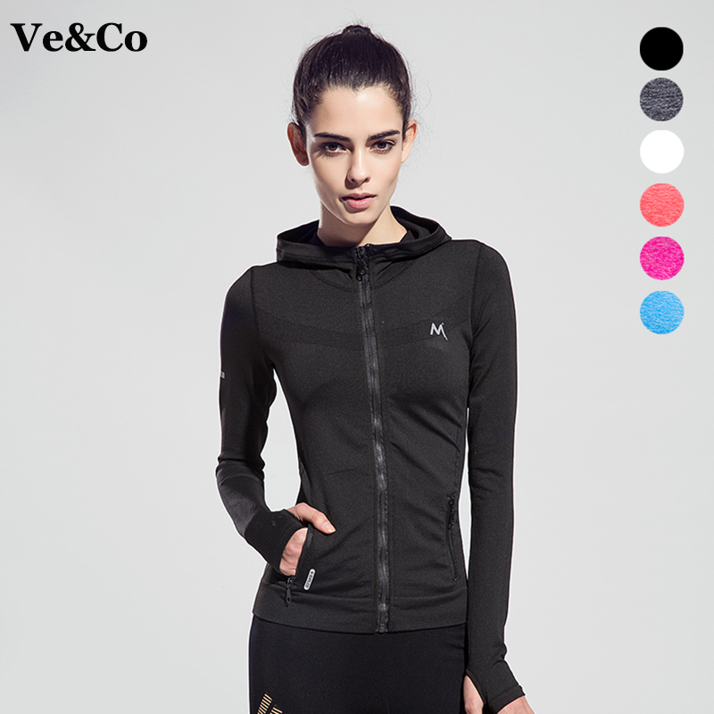 Women Yoga Shirts Quick-drying Breathable Sport Jackets Polyester <font><b>Long</b></font> Sleeve Fitness Yoga Coats Women <font><b>Running</b></font> Sportswear Coat