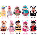 O envio gratuito de melhor qualidade no mercado da moda metoo crianças bonitos sacos de escola dos miúdos mochilas de pelúcia fabbit Recheado