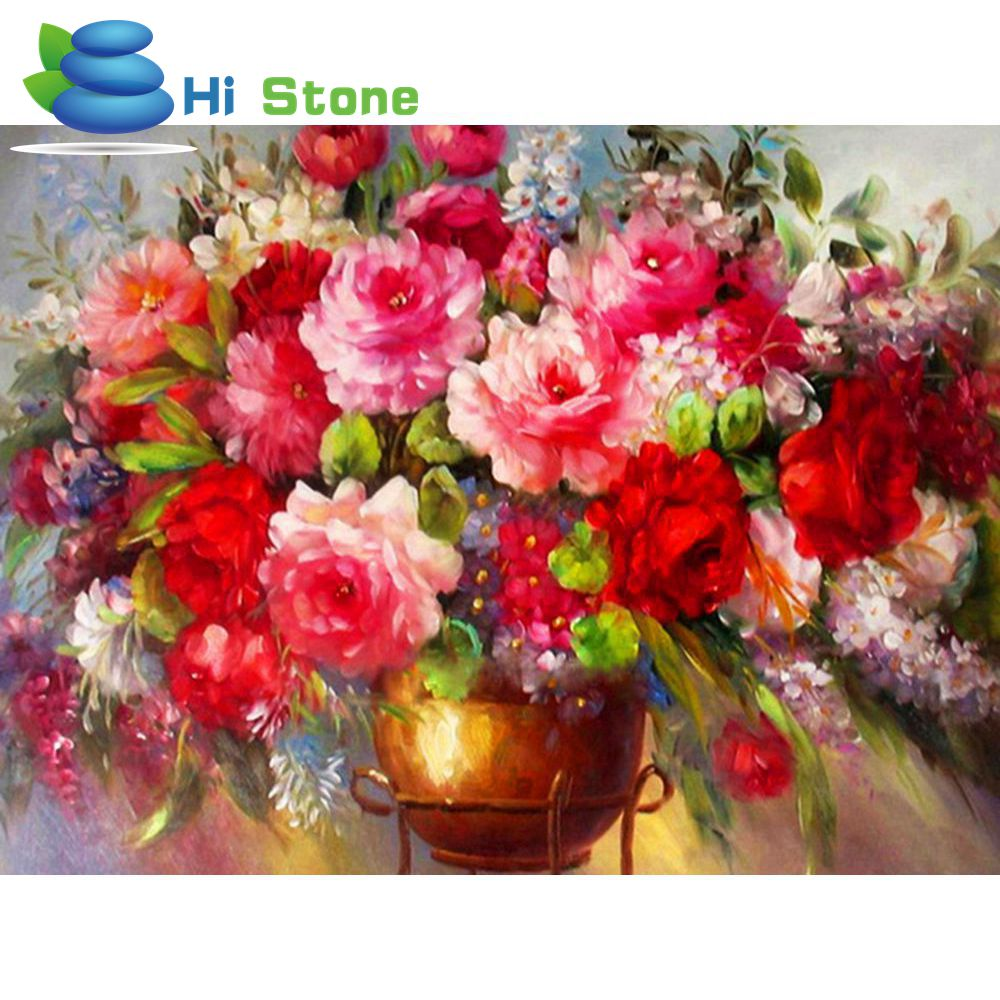 DIY Diamond painting Oil painting flowers characters Cross Stitch Diamond Embroidery Mosaic Strass pictures Home Decoration