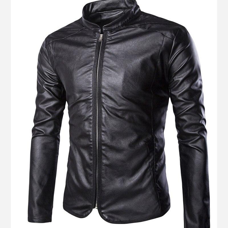 Hot Men Leather Jacket Fashion PU Male White Leather Motorcycle Jacket Coats Mens Clothing Coat Black Detachable sleeve M-5XL
