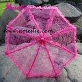 Mix Colors Lace Ruffle Wedding Bridal Parasol Umbrella
