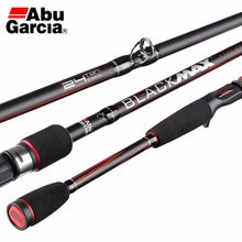 Abu garcia marca original preto max bmax isca de arremesso vara de pesca 1.98m 2.13 2.44m potência carbono fiação vara pesca