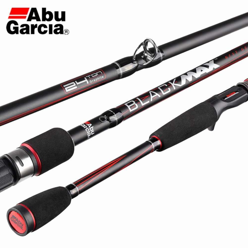 صنارة صيد الأسماك الأصلية من Abu Garcia موديل Max BMAX باللون الأسود بطول 1.98 متر 2.13 متر 2.44 متر صنارة صيد دوارة من الكربون
