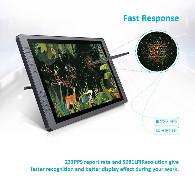 Huion Kamvas GT-221 Pro Pen Display Tablet Monitor Grafische Tekening Monitor 21.5 Inch 8192 Niveaus Met Gratis Geschenken