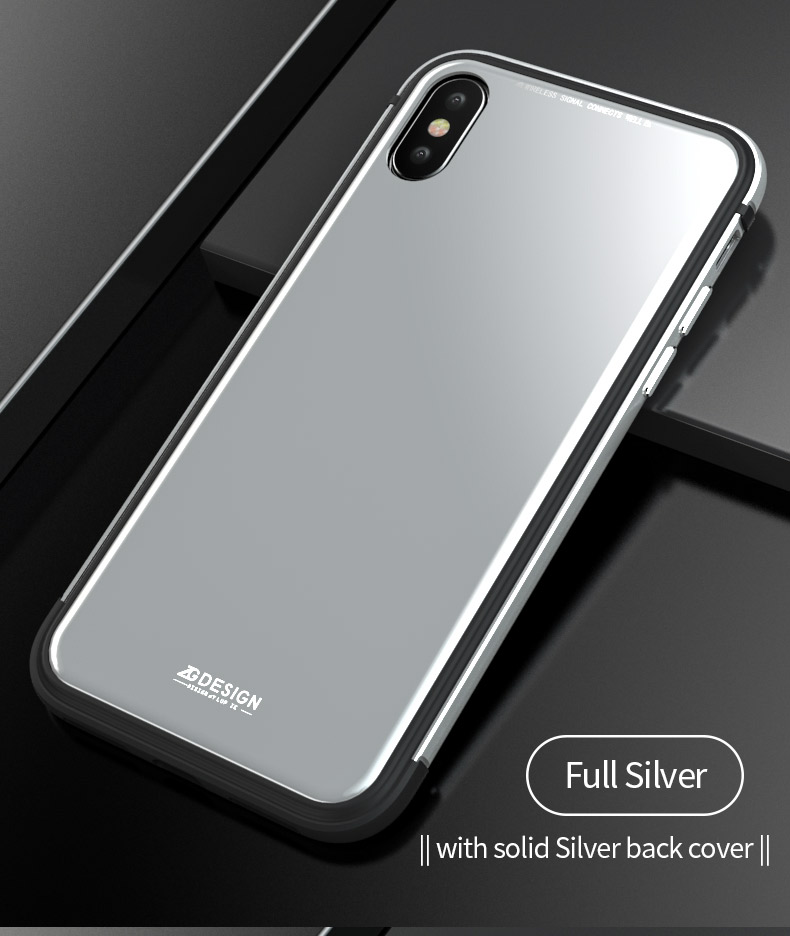 LUPHIE Aurora Laser Case Cover For iPhone X 7 8 Plus clear glass case  (9)