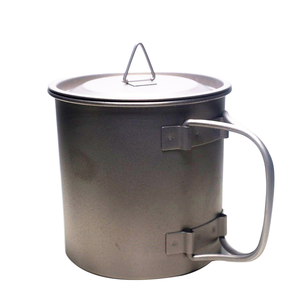 Canteen Solid Titanium Handle Army Travel Military Outdoor Kettle 400ML Camping Durable Hiking With Lid Water Bottle
