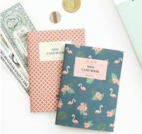 Red Floral Flamingo A6 Mini Size Cash Book 64 Pages Molang Diary Papelaria Filofax Dokibook Valentine
