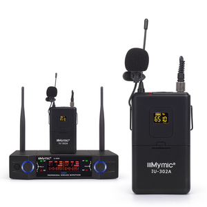Image 3 - IU 302A Professional UHF 600 700MHz Dual Channel(Single frequency) 2Bodypack+2Lapel+2Headset Wireless Microphone Mic System