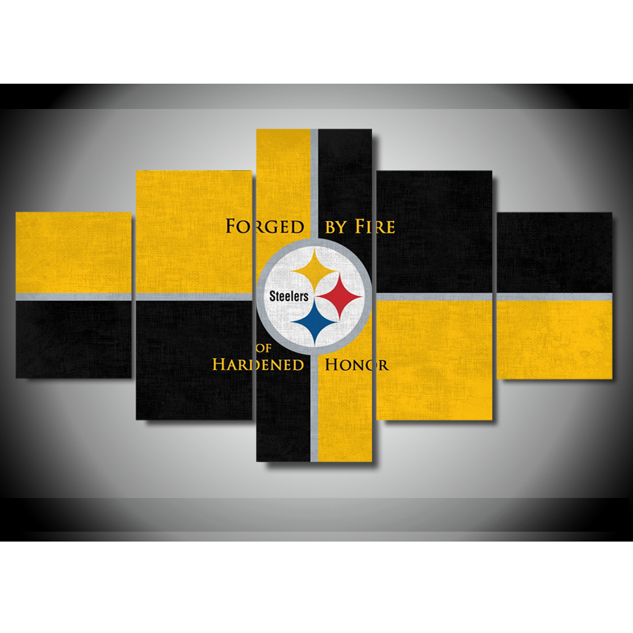 Canvas Painting On The Wall Pittsburgh Steelers Wall Picture For ...