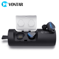 VONTAR T7 TWS Sweat proof Mini Wireless Earbuds Twins Earphone Bluetooth Headphones With Battery Case Hands Free Headsets
