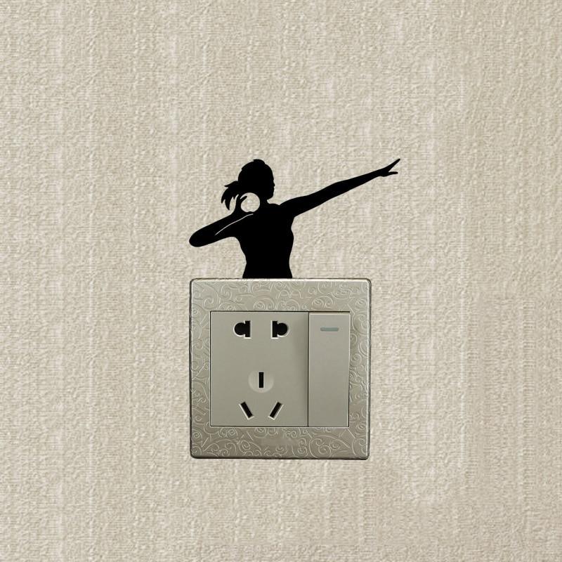 Throwing Shot Put Vinyl Sport Light Switch Wall Decals Stickers ...