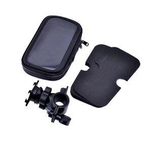 Image 4 - Suporte do telefone da motocicleta para samsung galaxy s8 s9 s10 para o iphone x 8 mais suporte da bicicleta móvel suporte à prova dwaterproof água para moto saco