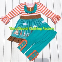 Small Inventory Hot Styles Clothing Halloween Thanksgiving Outfits Autumn Boutique Girl Clothes Set